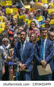 New York, New York USA May 7, 2019. Families for Safe Streets and Transportation Alternative held a press conference at City Hall demeaning safer city street and improved traffic law.