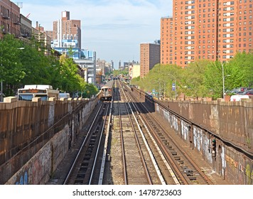 NEW YORK, USA - MAY 7, 2019:  IRT Broadway - Seventh Avenue Line, New York City Subway line