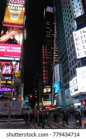 New York, USA - November 20, 2010: Times square busy with pedestrians and commotion in New-York