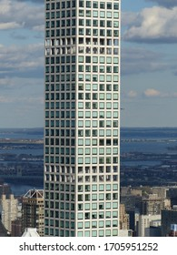 New York, USA / USA - November 2019: Facade of 432 Park Avenue building near Central Park