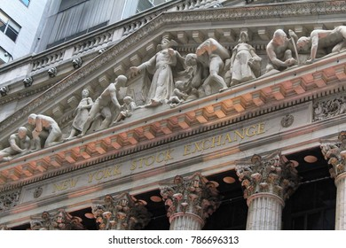 New York, USA - November 21, 2010: Wall Street New York Stock Exchange Entrance