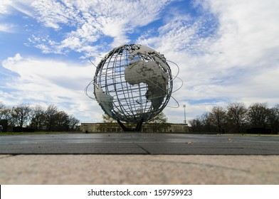 NEW YORK, USA - NOVEMBER 28: Unisphere in New York at November 28, 2011. It was deigned by Gilmore D. Clarke and constructed as the theme symbol of the 1964-1965 New York World's Fair.