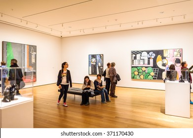 NEW YORK, USA - OCT 8, 2015: Museum of Modern Art (MoMA), an art museum, Midtown Manhattan, New York. It was established on November 7, 1929