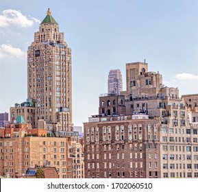 NEW YORK, USA - OCTOBER 1, 2018: The Carlyle, A Rosewood Hotel building view during from the Central Park in New York