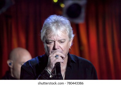 NEW YORK, NEW YORK, USA - OCTOBER 13: Russell Hitchcock of Air Supply performs at B.B. Kings blues club and grill.  Taken October 13, 2017 in New York.