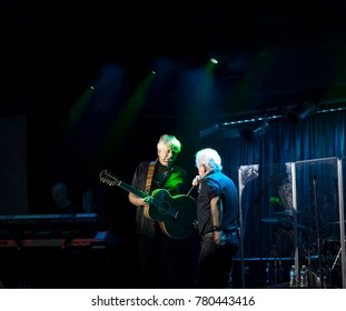 NEW YORK, NEW YORK, USA - OCTOBER 13: Lead singer Russell Hitchcock andGraham Russell of Air Supply performs at B.B. Kings blues club and grill.  Taken October 13, 2017 in New York.