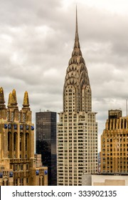 NEW YORK USA OCTOBER 24: Chrysler building facade on October 24, 2015 in New York, was the world's tallest building before it was surpassed by the Empire State Building in 1931.