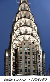 NEW YORK USA OCTOBER 27: Details of the Chrysler building facade on October 27, 2013 in New York, was the world's tallest building before it was surpassed by the Empire State Building in 1931.