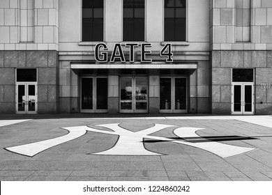 NEW YORK, USA - OCTOBER 31, 2018: Gate entrance to Yankee stadium in Bronx, New York