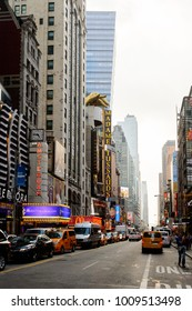 NEW YORK, USA - SEP 16, 2017: Commercial boards, Manhattan, New York City, United States of America
