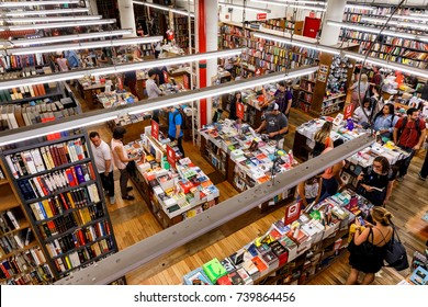 NEW YORK, USA - Sep 16, 2017: Strand Book Store is an independent bookstore at 828 Broadway, at the corner of East 12th St. in the East Village neighborhood of Manhattan. New, used and rare books