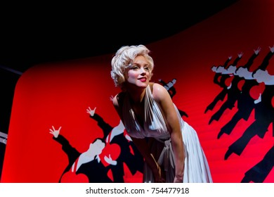 NEW YORK, USA - SEP 16, 2017: Marilyn Monroe, American actress, model and singer, Madame Tussauds NY wax museum.