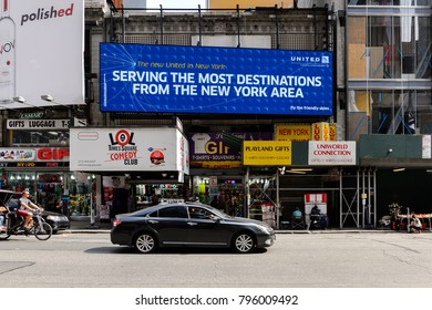 NEW YORK, USA - SEP 16, 2017: Architecture of Times Square, Manhattan, New York City, United States of America