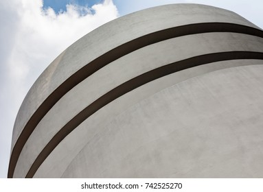 NEW YORK, USA - Sep 17, 2017: Solomon R. Guggenheim Museum is the permanent home of a continuously expanding collection of Impressionist, Post-Impressionist, early Modern and contemporary art