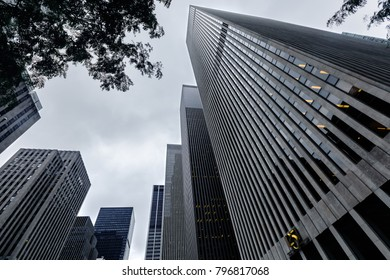 NEW YORK, USA - Sep 18, 2017: Manhattan modern architecture. Manhattan is the most densely populated of the five boroughs of New York City.