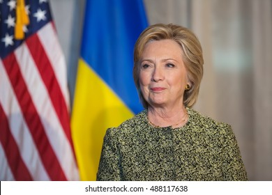 NEW YORK, USA - Sep 20, 2016: Candidate for Presidency of the United States Hillary Clinton during the 71 th session of the UN General Assembly in New York