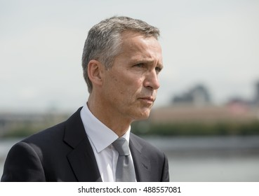 NEW YORK, USA - Sep 20, 2016: NATO Secretary General Jens Stoltenberg during the 71 th session of the UN General Assembly in New York