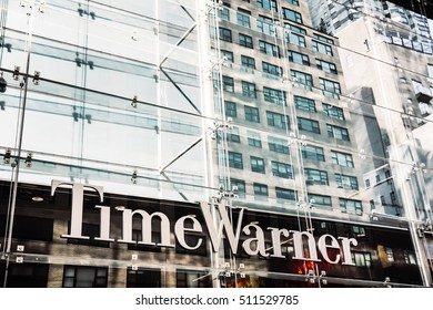 NEW YORK, USA - Sep 21, 2016: Time Warner Inc., a global leader in media and entertainment with businesses in television networks and film and TV entertainment
