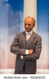 NEW YORK, USA - SEP 22, 2015: Henry Ford in Madame Tussaud  wax museum, TImes Square, New York City. Marie Tussaud was born as Marie Grosholtz in 1761