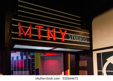 NEW YORK, USA - SEP 22, 2015: Madame Tussaud  wax museum, TImes Square, New York City. Marie Tussaud was born as Marie Grosholtz in 1761