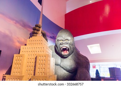 NEW YORK, USA - SEP 22, 2015: King Kong in the Madame Tussaud  wax museum, TImes Square, New York City. Marie Tussaud was born as Marie Grosholtz in 1761