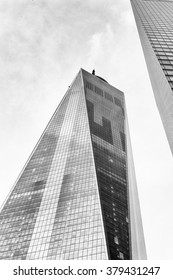 NEW YORK, USA - SEP 22, 2015: One World Trade Center of the Lower Manhattan (Downtown).It is the tallest skyscraper in the Western Hemisphere