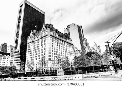 NEW YORK, USA - SEP 22, 2015: Architecture of the Fifth avenue, 10.0 km. It stretches from West 143rd Street in Harlem to Washington Square North at Washington Square Park in Greenwich Village