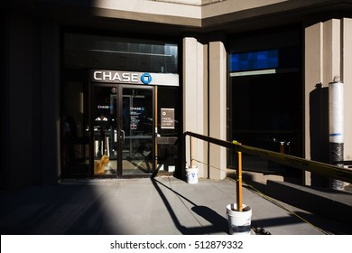 NEW YORK, USA - Sep 22, 2016: Chase Bank branch in New York. JPMorgan Chase, through its Chase subsidiary, is one of the Big Four banks of the United States