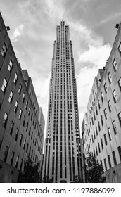 New York, USA - Sep 24, 2018: Rockefeller Center in New York City. Rockefeller Center is a national historic landmark and a complex of 19 commercial buildings