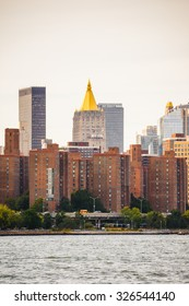 NEW YORK, USA - SEP 25, 2015: Architecture of Manhattan, New York City, USA. New York is the most populous city in the United States