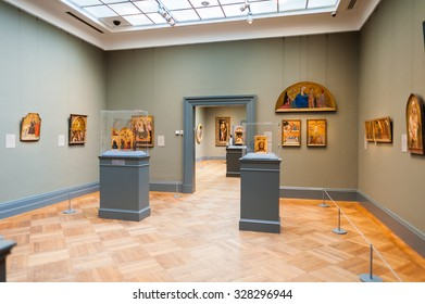 NEW YORK, USA - SEP 25, 2015: European painter's picture gallery in the Metropolitan Museum of Art (the Met), the largest art museum in the United States of America