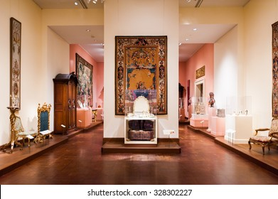 NEW YORK, USA - SEP 25, 2015: Part of the Metropolitan Museum of Art (the Met), the largest art museum in the United States of America