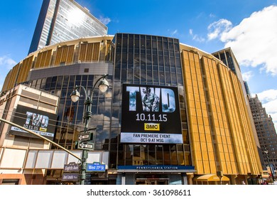 NEW YORK, USA - SEP 25, 2015: Madison Square Garden, Manhattan, New York City, USA. New York is the most populous city in the United States