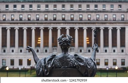 NEW YORK, USA - Sep 26, 2015: Alma Mater of Columbia University in NYC. New York City Columbia University, an Ivy League school.