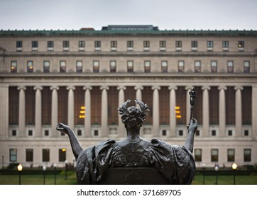 NEW YORK, USA - Sep 26, 2015: Alma Mater. New York City's Columbia University, an Ivy League school.