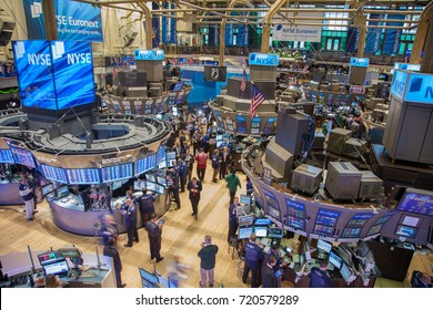 New York, New York, USA - Sept. 22, 2011 - Busy trading floor of the New York Stock Exchange - EDITORIAL USE ONLY