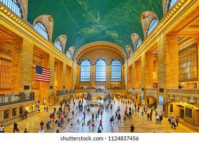 New York, USA- September 05, 2017 :  Grand Central Terminal- railroad terminal at 42nd Street and Park Avenue in Midtown Manhattan in New York City, United States.