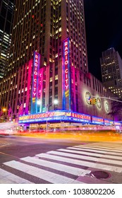 NEW YORK, USA - September 22 2017: Radio City Music Hall hosting Canadian rock-and-roll musician, Mac Demarco.