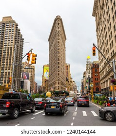 NEW YORK, USA - September 23, 2018: Flatiron Building in Manhattan. New York City, USA.