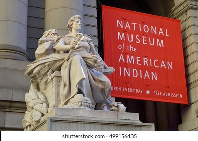 New York, USA - September 25, 2016: National Museum of the American Indian, NYC, USA.