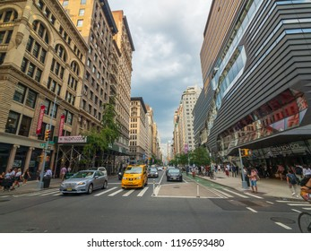 New York, USA - September 6, 2018: City life in Manhattan at day time