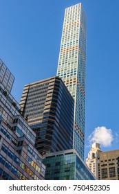 NEW YORK, USA - SEPTEMBER 8, 2017: 432 Park Avenue, one of the tallest skyscrapers in New York, USA