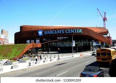 New York; USA-May 06; 2014- Barclays Center is a multi-purpose indoor arena; Opended 2012 in Brooklyn