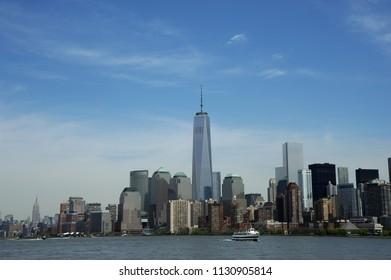 New York; USA-May 07; Manhattan New York Skyline Empire State Building
