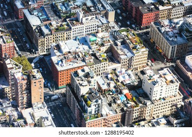 New York, USA-OCT 5, 2016: Intersections of fifth and fourth Ave in Manhattan Midtown seen in the day. As NYC's largest business district, Midtown is the busiest single commercial district in the USA.