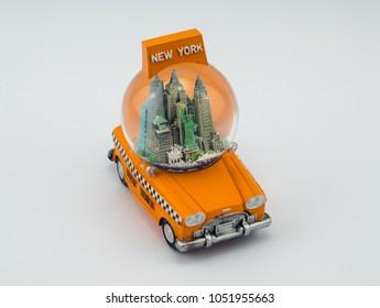 New York yellow taxi souvenir