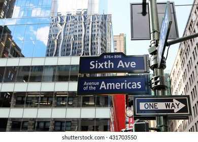 NEW YORK MAY 30 2016 Street Sign In Manhattan For