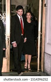 NEW YORK, NEW YORK/UNITED STATES - FEBRUARY 8 2008: Demi Moore and Ashton Kutcher are seen at Gemma Restaurant on February 8, 2008 in New York City.