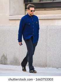 NEW YORK, NEW YORK/UNITED STATES - MARCH 4, 2020: Bradley Cooper is seen in Greenwich Village on March 4, 2020 in New York City.