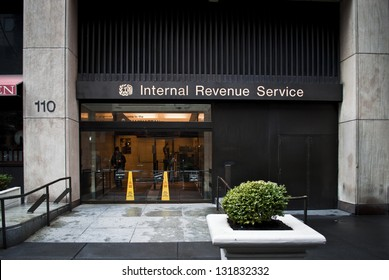 NEW YORK, NEW YORK/USA - MARCH 08: The Internal Revenue Building in Manhattan on March 8, 2013 in New York City. The IRS is responsible for the collection of taxes and tax law enforcement.